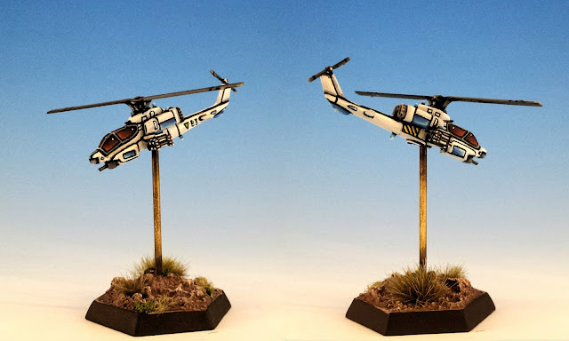 "Painted H-7C ""Warrior"" VTOL Helicopter for Battletech"