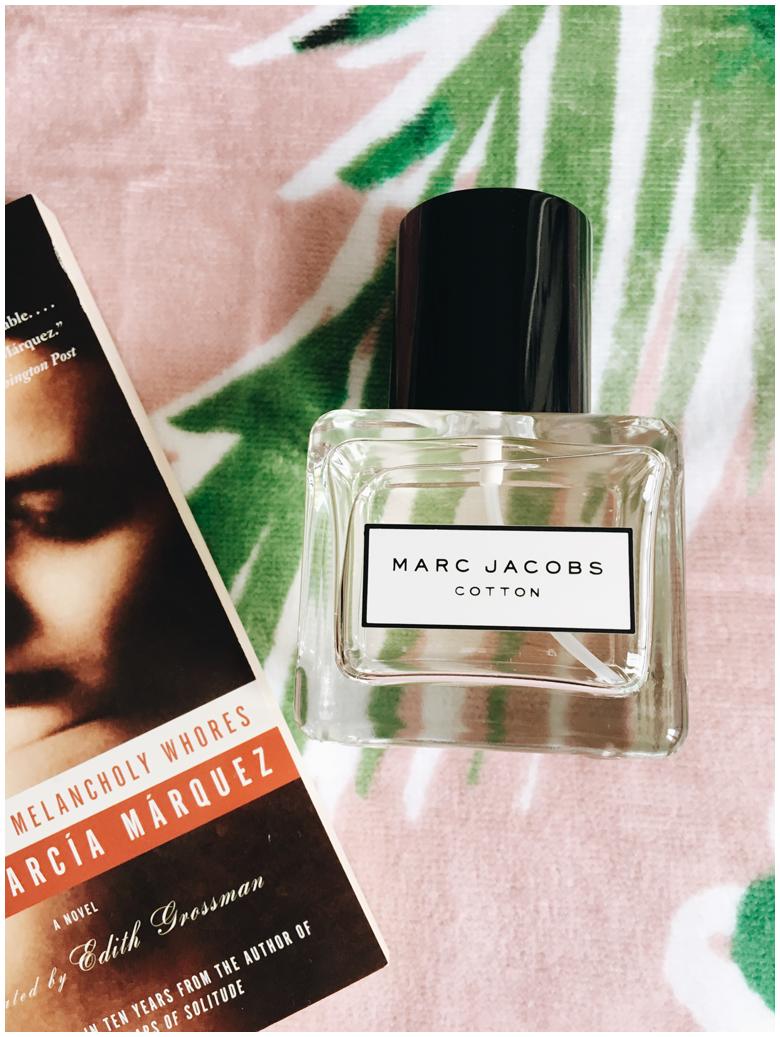 marc jacobs cotton perfume, beach essentials, strandessentials, review