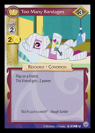 My Little Pony Too Many Bandages Premiere CCG Card