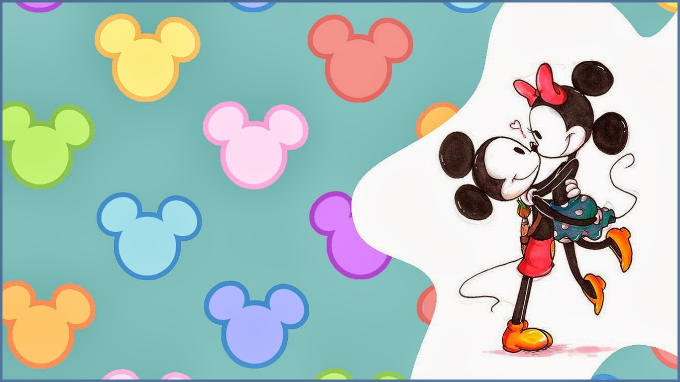 Fondo de pantalla animacion mickey con minnie mouse for Protectores animados