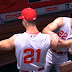 Reds go sleveless with throwback uniforms