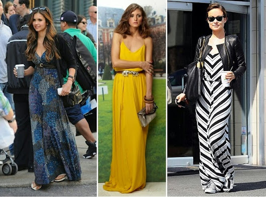 Little Black Dress: Stylish Maxi Dresses to late summer