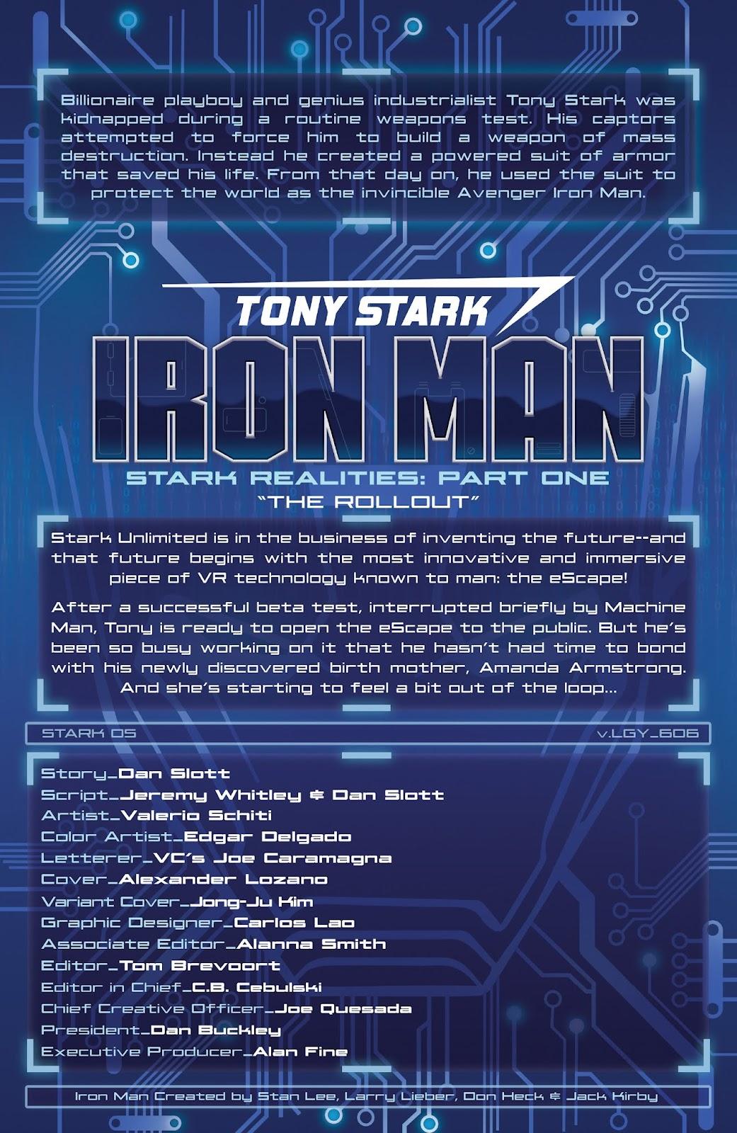 Read online Tony Stark: Iron Man comic -  Issue #6 - 2