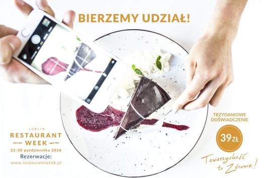 Lublin Restaurant Week 2016 | Lista restauracji biorących udział | Ambasadorzy RW restaurant week | Restauracje w Lublinie | Lubelskie wydarzenia kulinarne | Warsztaty pokazy kulinarne