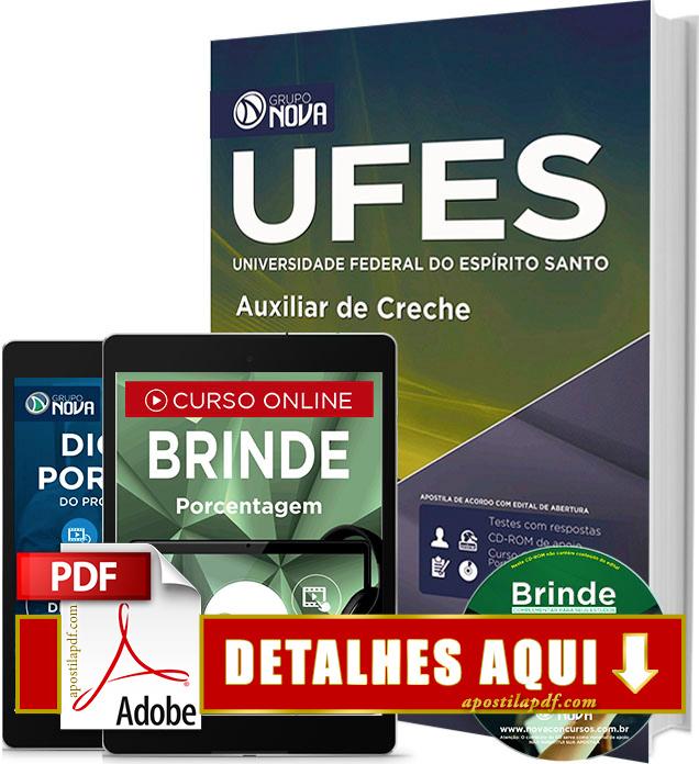 Apostila UFES 2016 Auxiliar de Creche Impressa