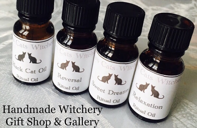 Witchcraft and fantasy art at two cats witchery gift shop