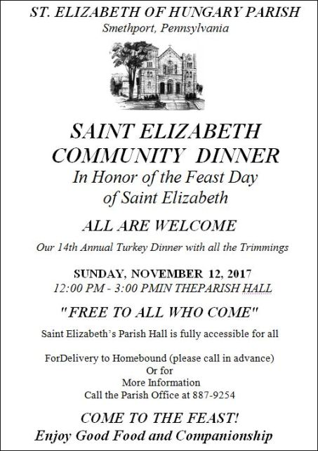 11-12 St. Elizabeth Community Dinner