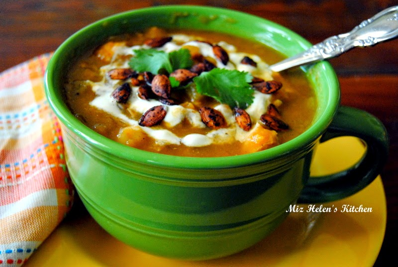 Roasted Southwest Pumpkin Stew at Miz Helen's Country Cottage