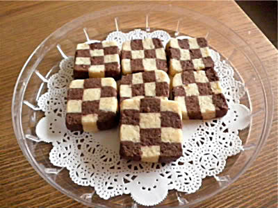 Checkerboard Cookies Recipe @ treatntrick.blogspot.com