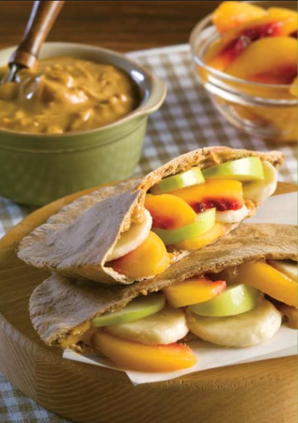 Peachy Peanut Butter Pita Pockets Recipe