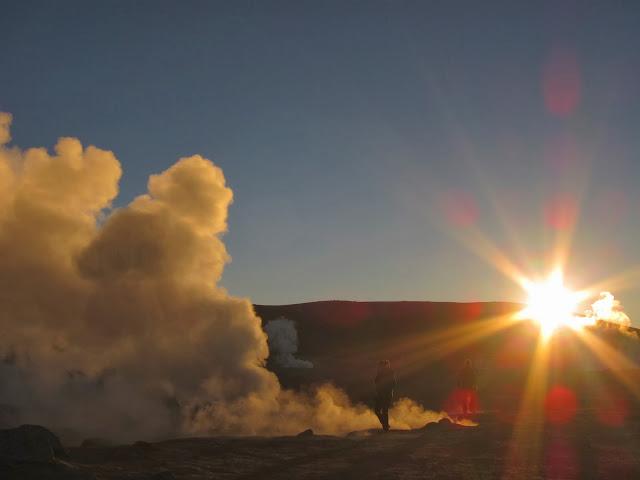 Vapores subindo da Terra
