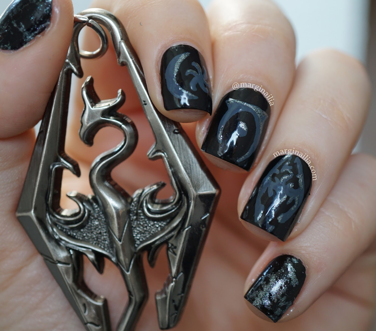 Plus10kapow Guest Post From Marginailia Elder Scrolls Nails