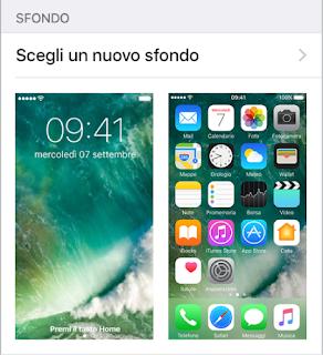 come Personalizzare iPhone 7 cambiando lo sfondo