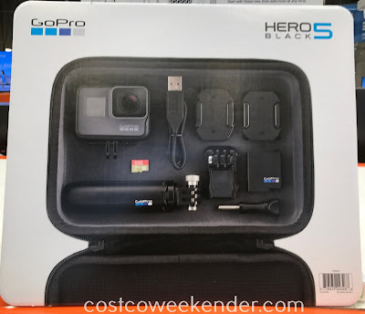 Easily capture some of your best action with the GoPro Hero5 Black Camera Bundle