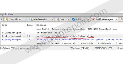 Preprocessor #error