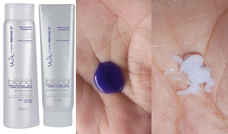 Shampoo e Condicionador Silver Blond Hair Repair Vult