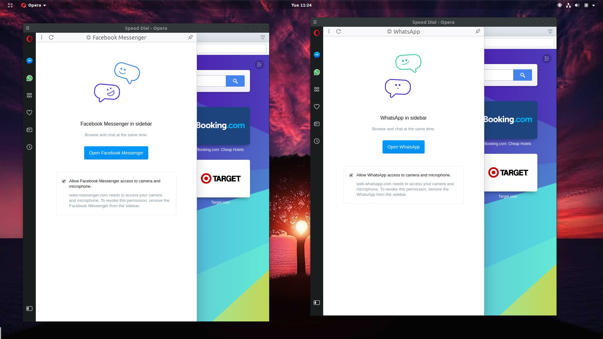 Opera Web Browser Now Has Built-in WhatsApp and FB Messenger