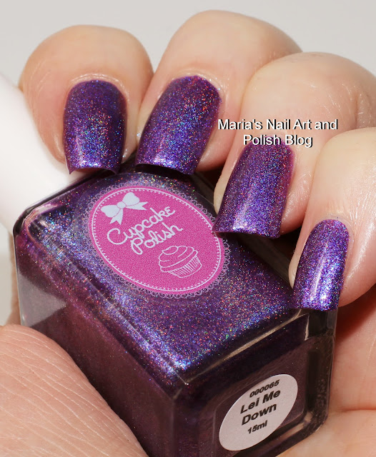 Marias nail art and polish blog oktober 2016 cupcake polish lei me down is from the luau collection its a purple holo with a generous amount of blue shimmer it is fairly opaque in one coat prinsesfo Choice Image