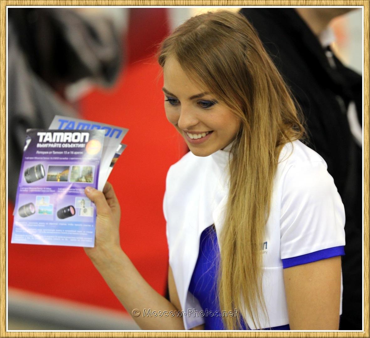 Smiling Tamron Promotional Model