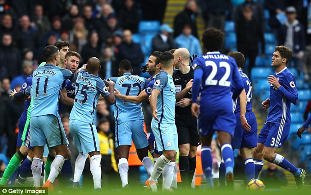 Manchester City and Chelsea have both received fines for their injury time brawl at the Etihad