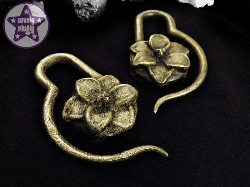 Decorative Ear Weights : Lovely plugly custom plugs glitter galaxy faux
