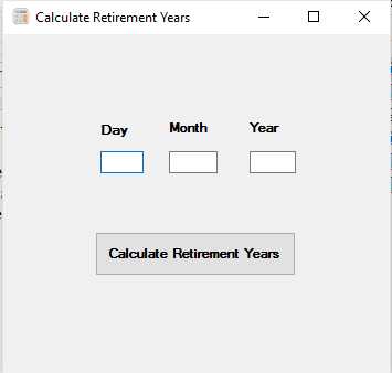 Retirement Years Calculator In C# - Tech Spider