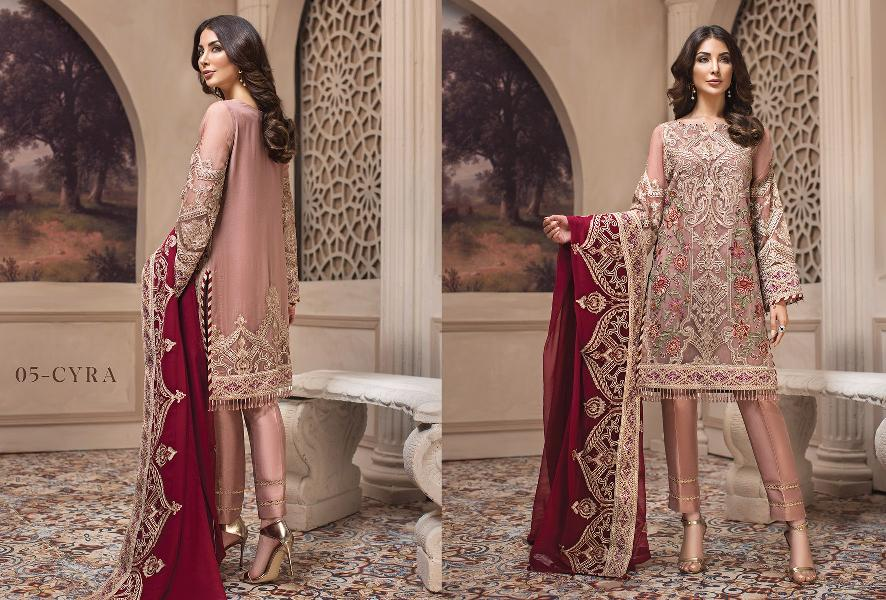 c68922f6d7 4Seasons Fashion: Jazmin Shahnameh Luxury Embroidered Chiffon Eid ...