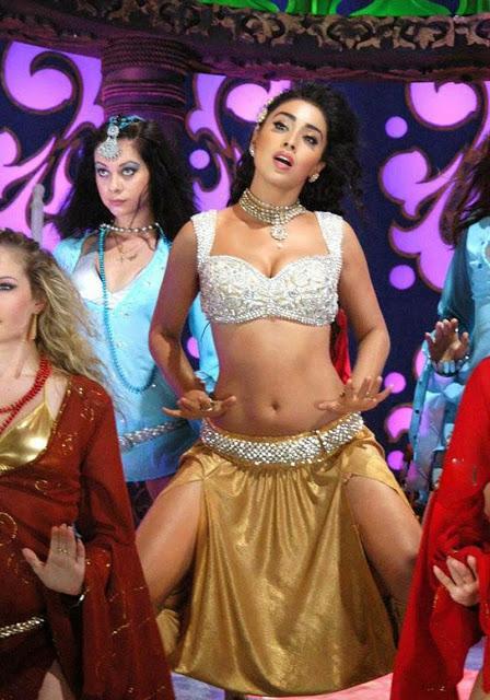 Dancing Actress Shriya Saran poses topless