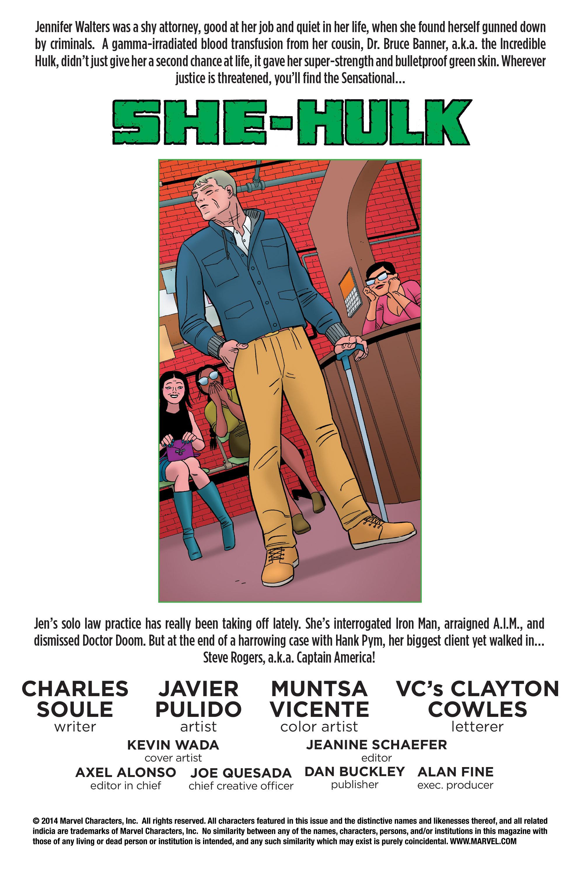 Read online She-Hulk (2014) comic -  Issue #8 - 2
