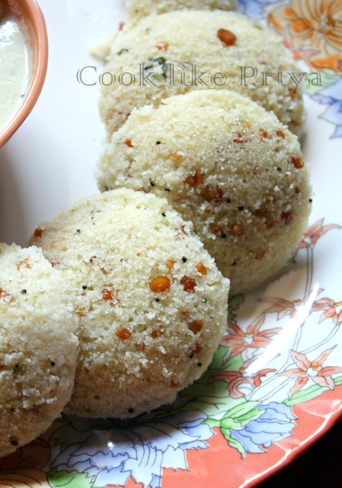 Cook Like Priya Instant Rava Idly Recipe Sooji Idly