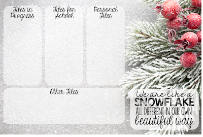 Does winter have you feeling a little down? Hop on over and download these Free desktop organizers! They will spruce up your computer and motivate you to clean out some old teaching files!