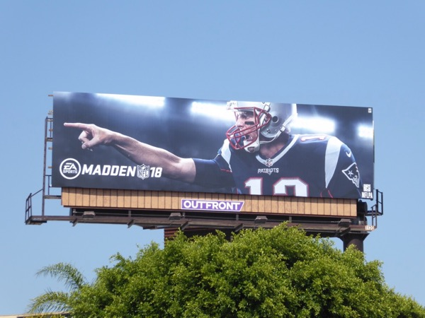 EA Sports Madden NFL 18 game billboard