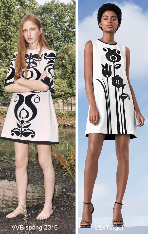 Victoria Beckham for Target tulip print dress
