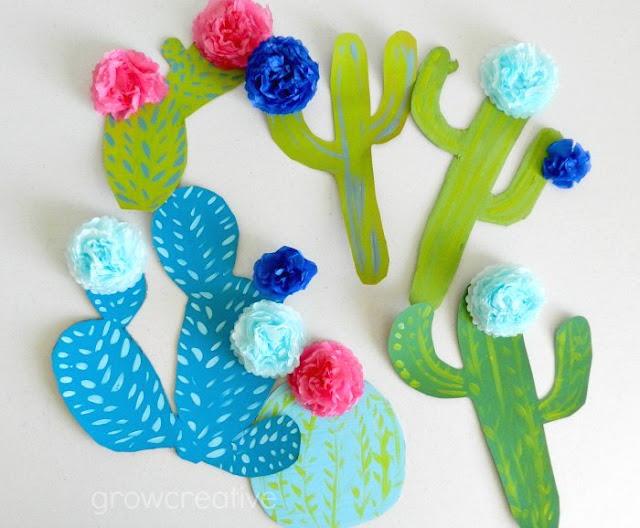 Cactus Wall Art Party Decor: Grow Creative Blog