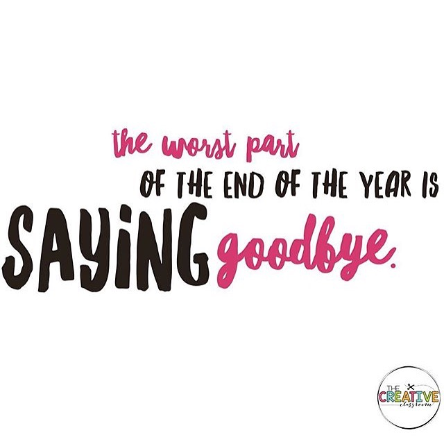 Saying goodbye is never easy, but knowing that your relationships are going to continue to grow help make the end of the year not as hard!