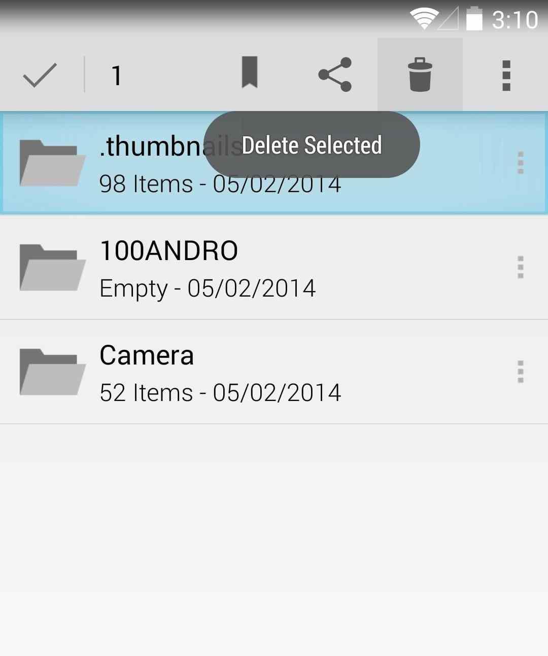 efek jika menghapus folder thumbnails di android