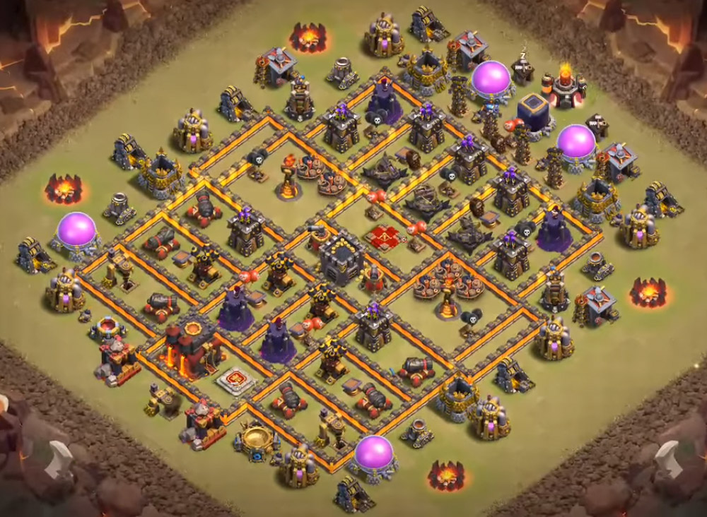 best th10 war base