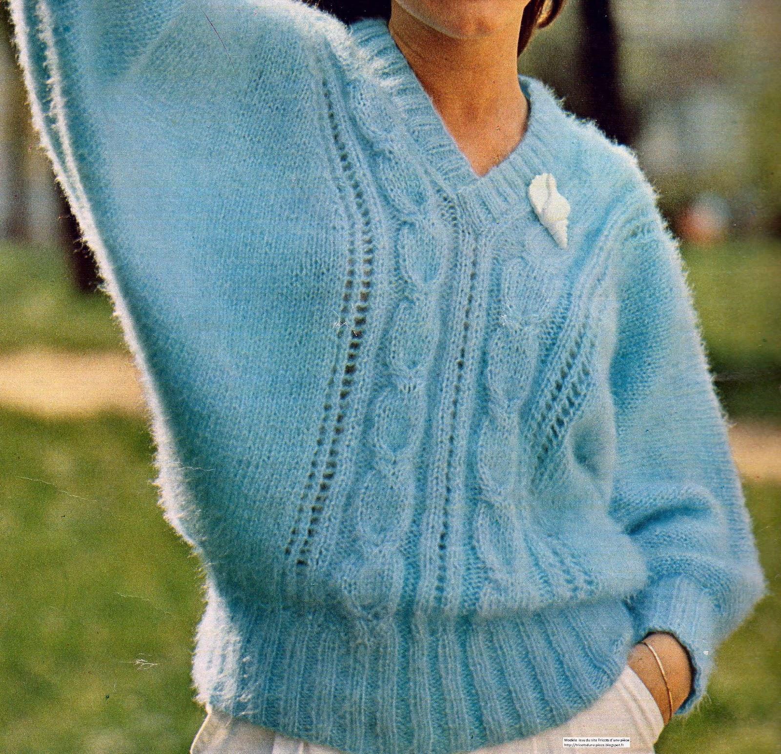 tuto pull chauve souris tricot