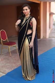 Priyanka Ramana in Beautiful Designer Black Saree At We Craft Elegance Expo Launch 066.JPG