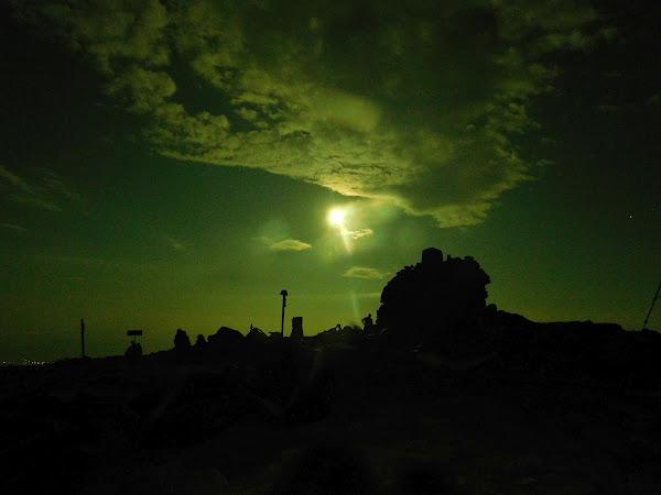 Księżyc nad Diablakiem.