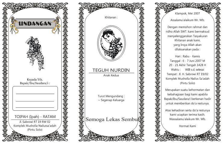 contoh desain bingkai undangan pernikahan