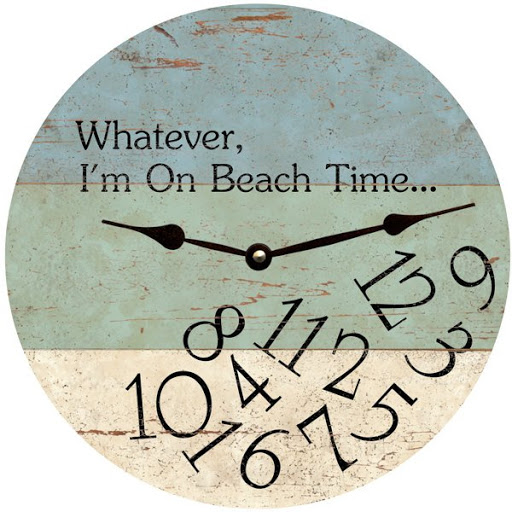 Coastal Beach Quote Saying Wood Wall Clock