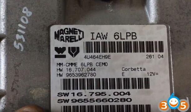 ktag-read-Marelli-IAW-6LP-1