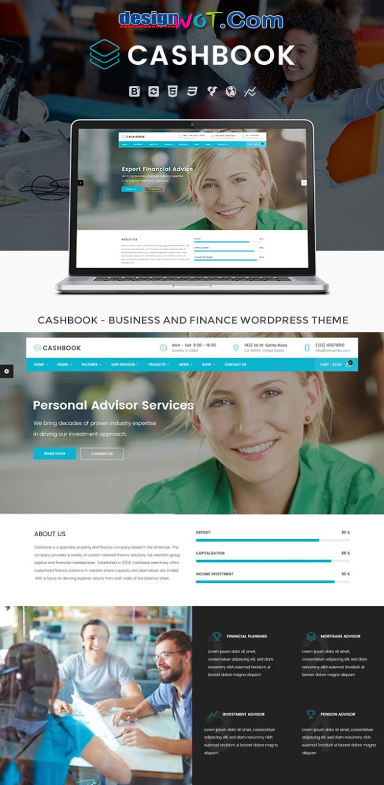 Cashbook - Business and Finance WordPress Theme