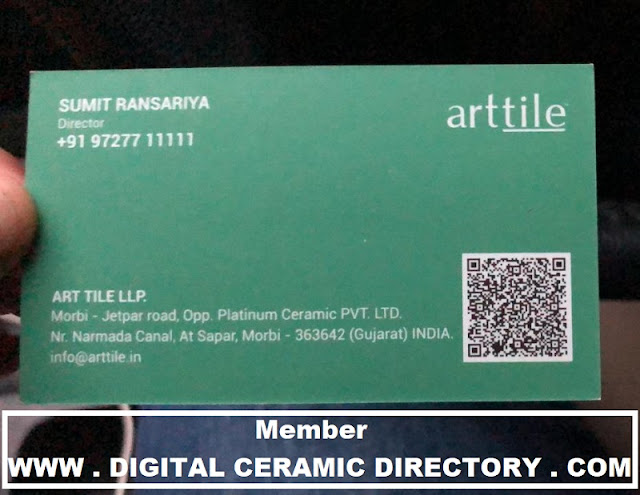 ART TILE LLP, ART TILE, SUMIT RANSARIYA, 9727711111, 972771111, DIGITAL CERAMIC DIRECTORY