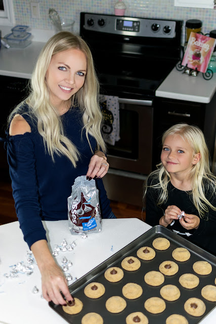 baking cookies mom and me recipe peanut butter hersheys kisses