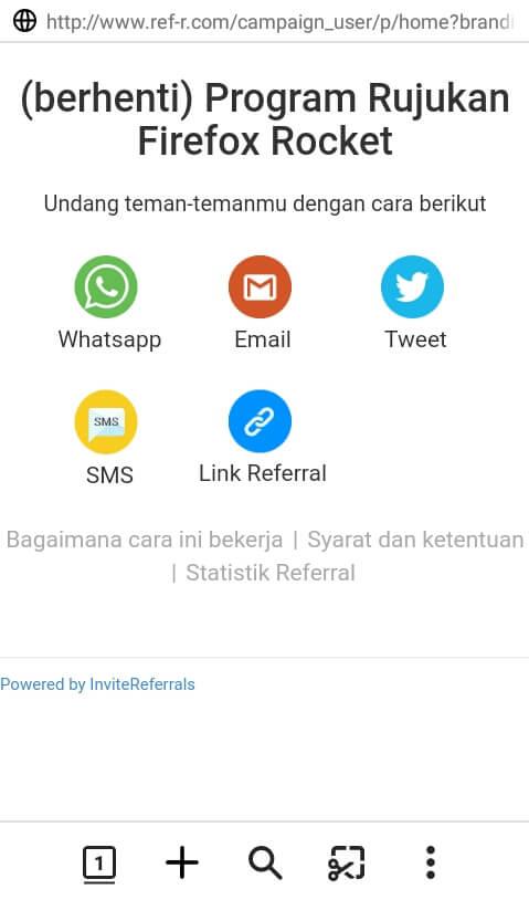 bagikan link refferal (link undangan) Anda kepada teman Anda.