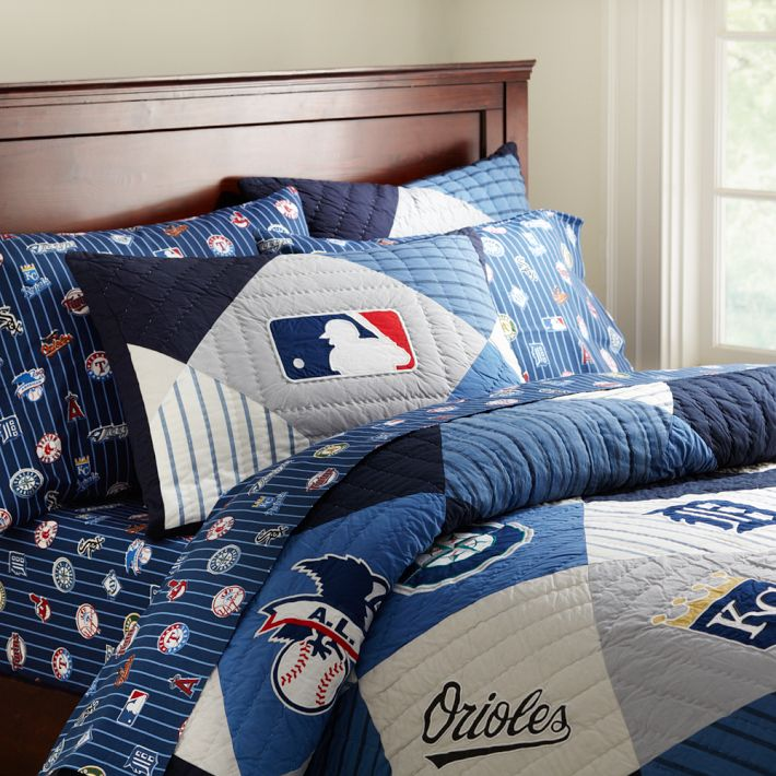Pb Teen New Mlb American League Quilt And Sham Decor