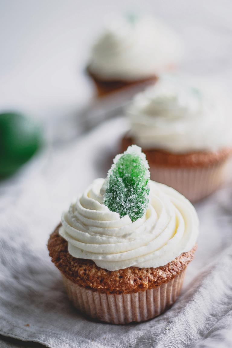 Ein Cupcake in der Nahaufnahme