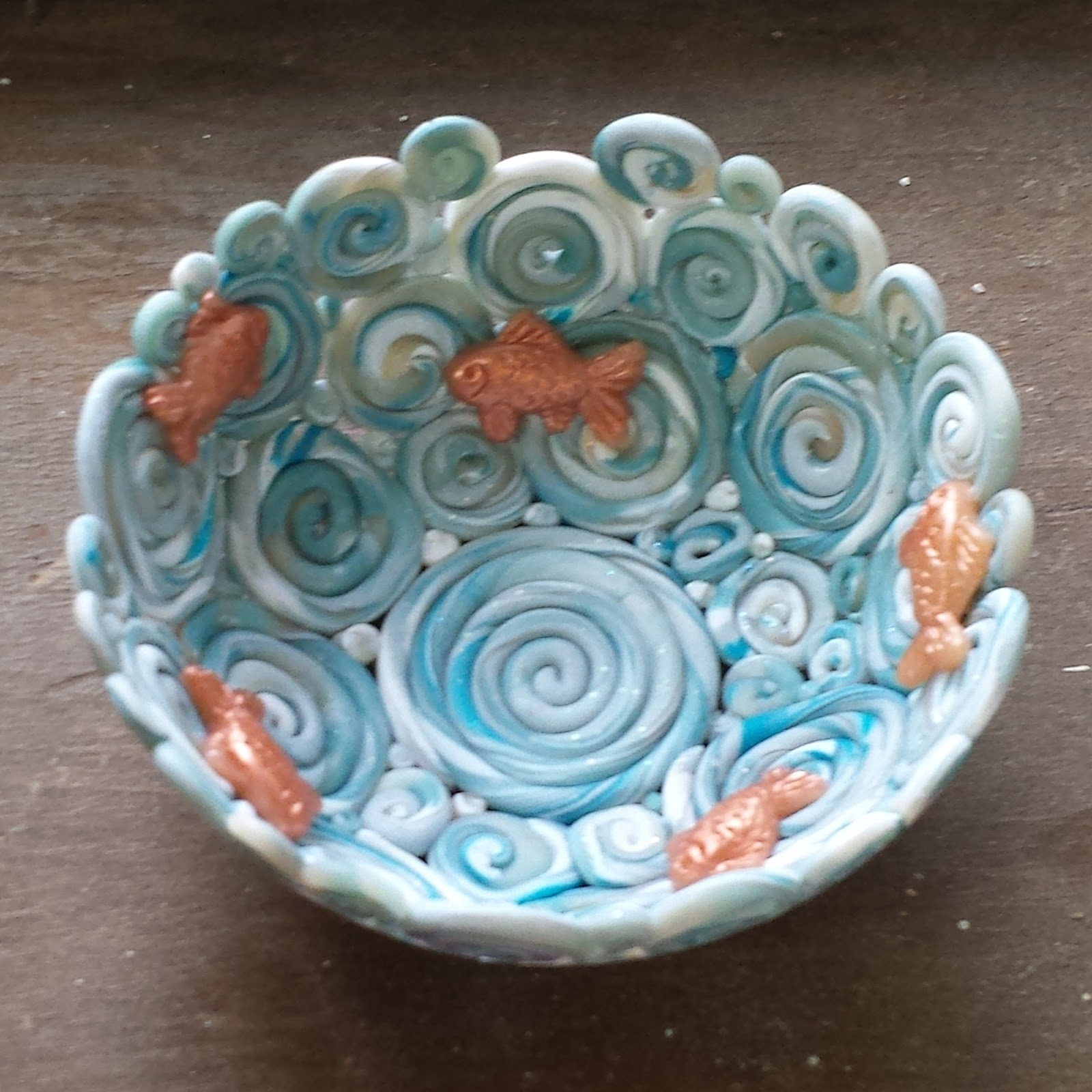 Adventures In Creativity: Tiny Polymer Clay Bowl With Gold